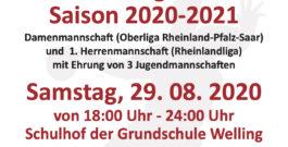 Vorstellungsabend Saison 2020/2021 Damen (RPS Oberliga), 1.Herrenmannschaft (Rheinlandliga) mit Ehrung von 3 Jugendmannschaften