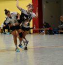 Wellinger Handballerinnen zeigen beim 32:31 Sieg im Oberliga Derby gegen den HC Koblenz die beste Saisonleistung.